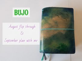 Bujo August flip through & September plan with me.